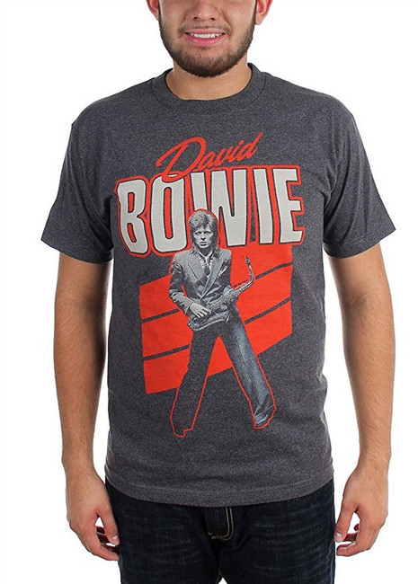 David Bowie Red Sax Men's Grey T-Shirt