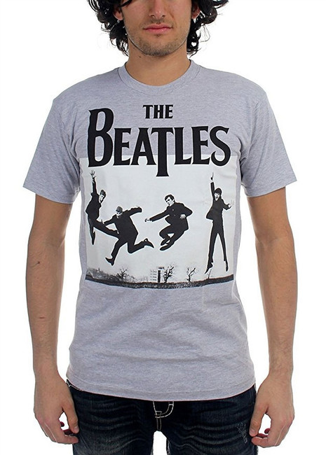 The Beatles Jump Photo Men's Heather T-Shirt
