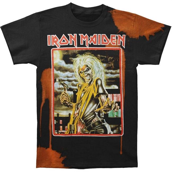 Iron Maiden Bleached Killers Square Men's Black T-Shirt