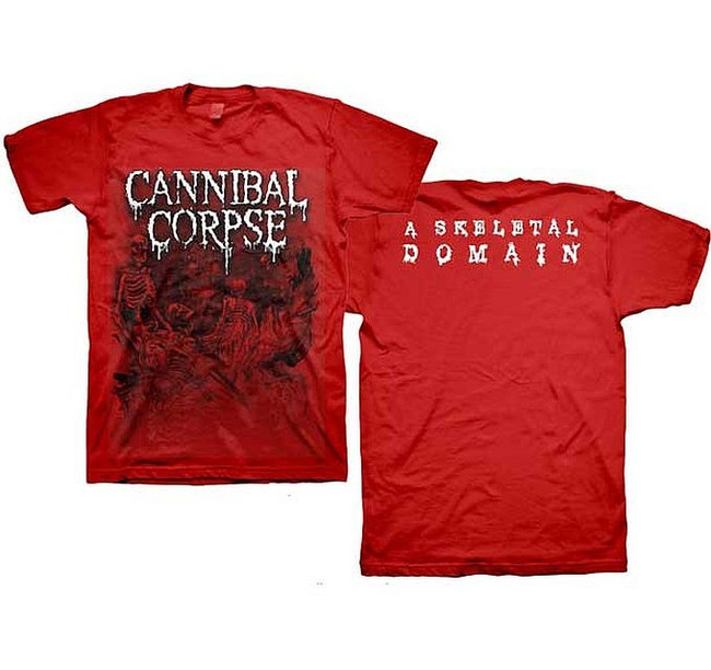Cannibal Corpse Skeletons Domain Red T-Shirt
