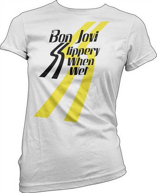 Bon Jovi Slippery Logo Junior Women's T-Shirt