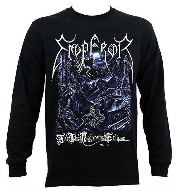 Emperor Nightside Long Sleeve Men's Black T-Shirt
