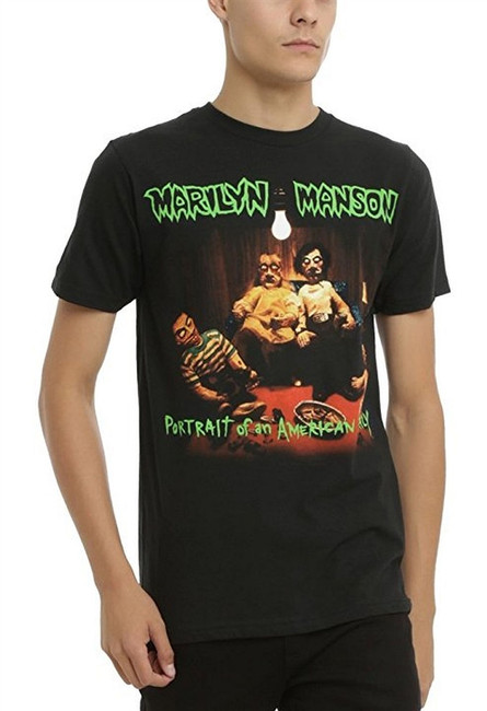 Marilyn Manson American Family Men's T-Shirt Black