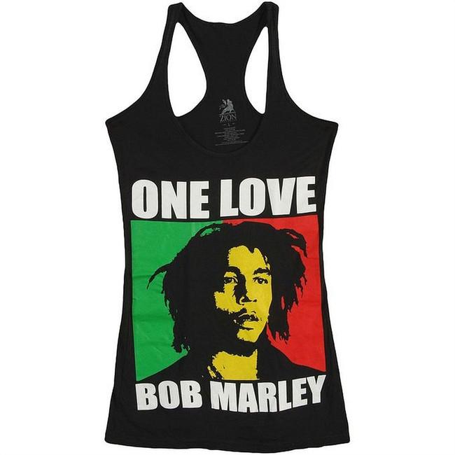 Bob Marley One Love Jr Women's Racerback Tank Top T-Shirt
