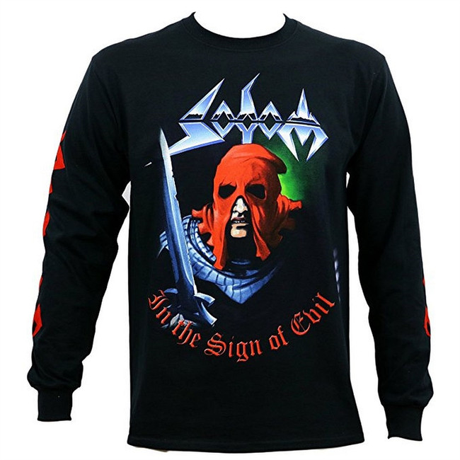 Sodom In The Sign of Evil Men's Black Long Sleeve T-Shirt