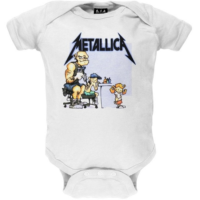 Metallica - Tattoo Baby Onesie T-Shirt