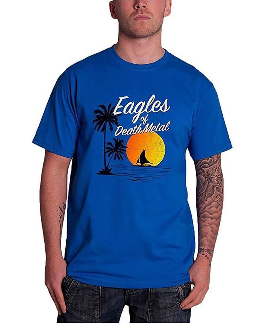 Eagles of Death Metal Sunset Men's Blue T-Shirt