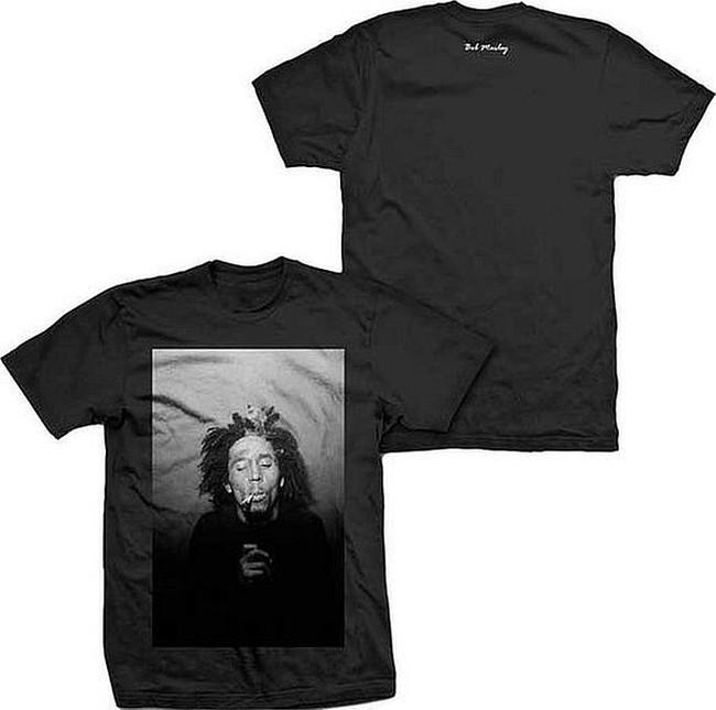 Bob Marley Black and White 420 T-Shirt