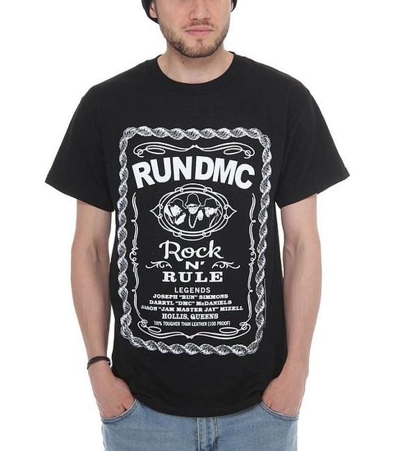 Run DMC Rock N Rule Whiskey Label T-Shirt