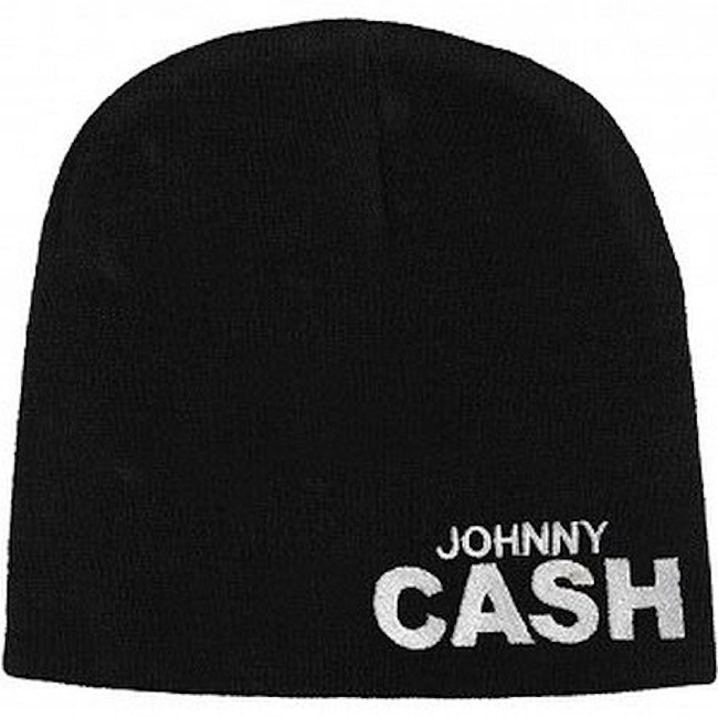Johnny Cash Block Logo Reversible Beanie Hat