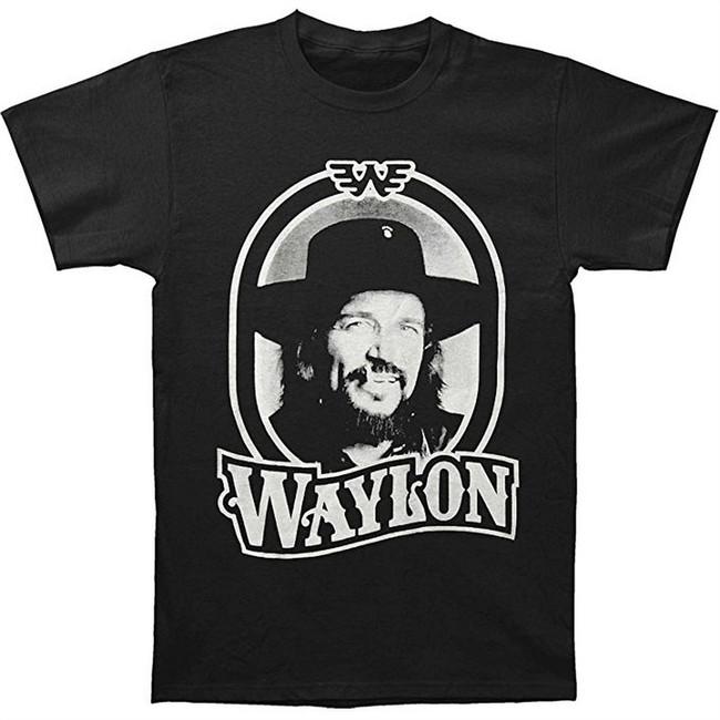 Waylon Jennings 79 Tour T-Shirt Men's Black T-Shirt