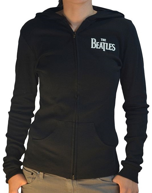 The Beatles Green Apple Junior Women's Zip Hoodie Sweatshirt