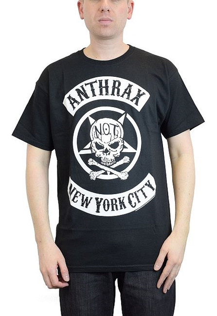 Anthrax Biker Skull T-Shirt
