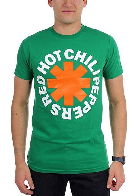 Red Hot Chili Peppers Asterisk Irish Men's T-Shirt Green