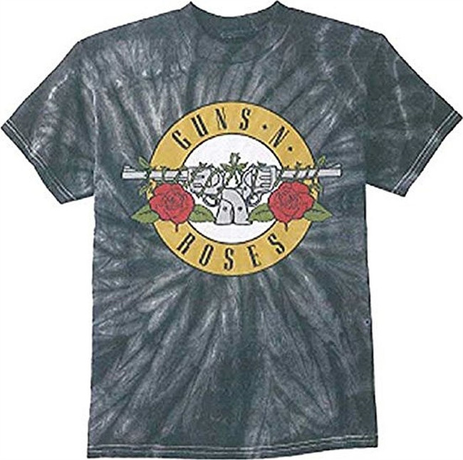 Guns N Roses Simple Bullet Spider Tie-Dye Men's T-Shirt