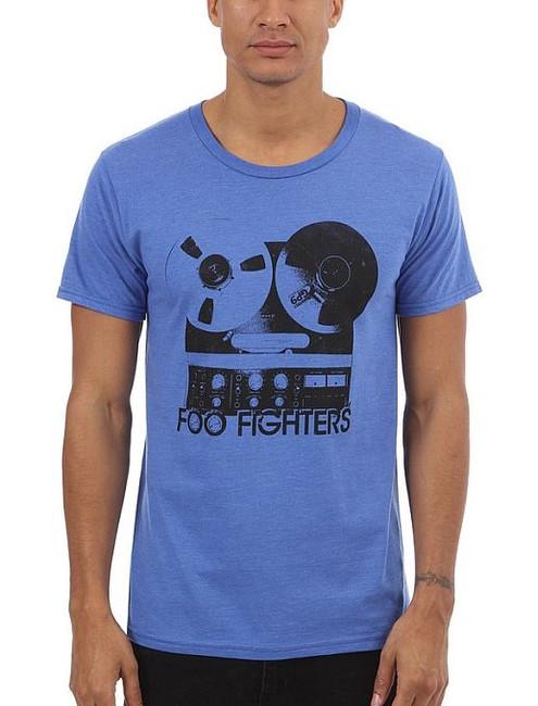 Foo Fighters Reel To Reel Lightweight Blue T-Shirt