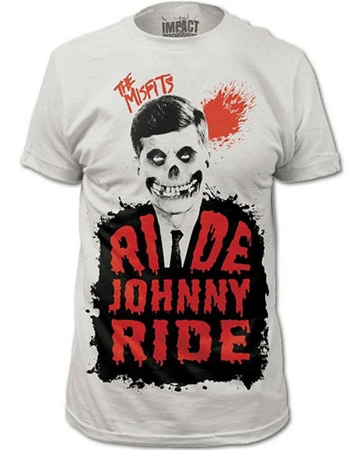 Misfits Ride Johnny Ride Fitted Subway T-Shirt