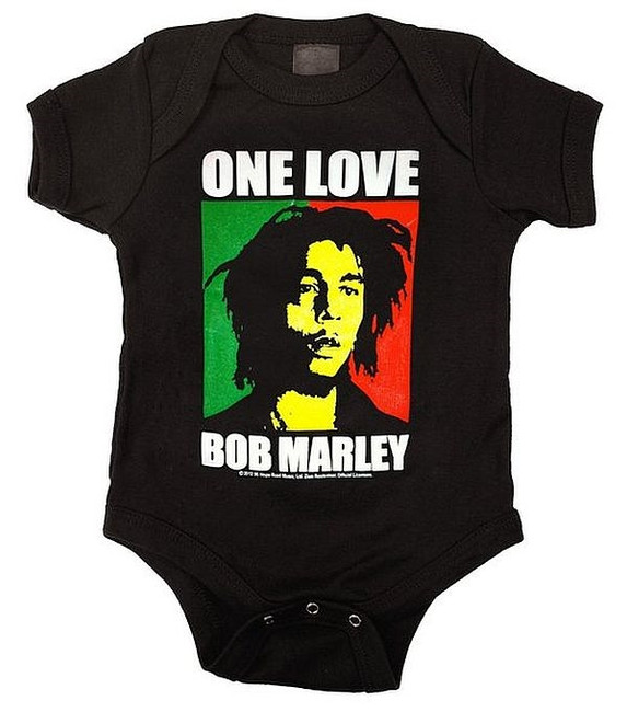 Bob Marley One Love Block Baby Romper Creeper T-Shirt