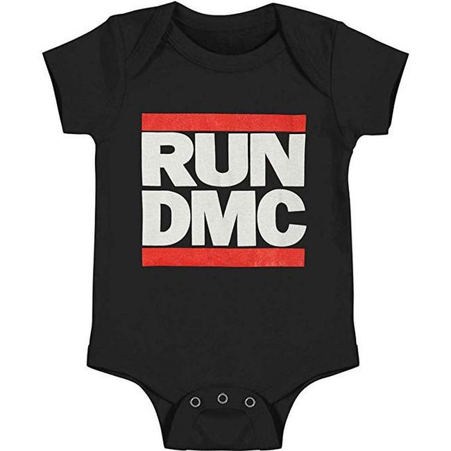 Run DMC Classic Logo Infant Baby Romper T-Shirt