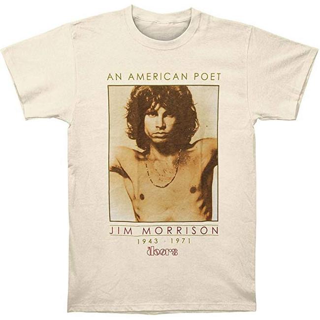 The Doors American Poet Lightweight Sand T-Shirt