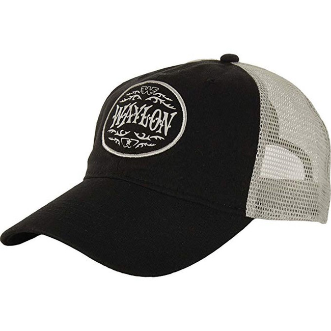 Waylon Jennings Circle Patch Trucker Hat