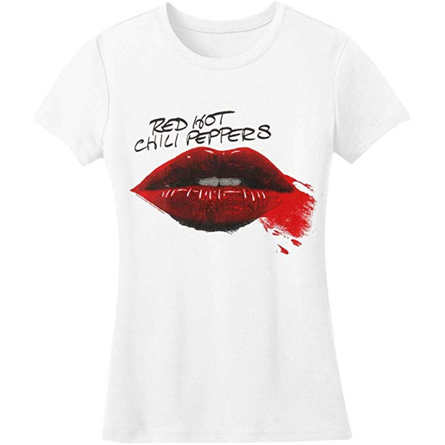 Red Hot Chili Peppers Junior Women's Lipstick T-Shirt