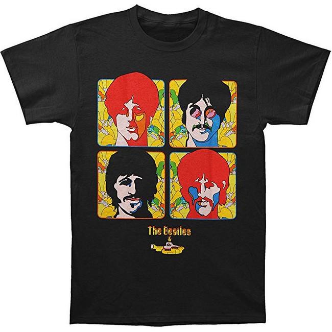 The Beatles Sub Four Portraits Men's T-Shirt