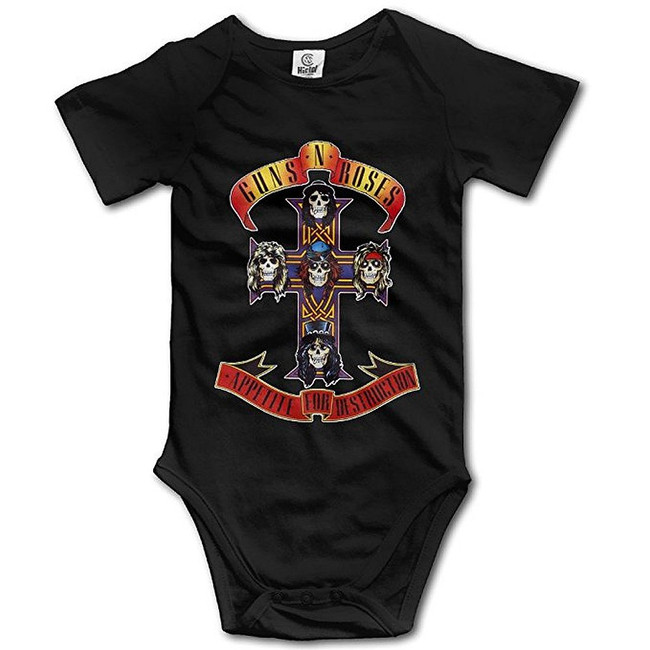 Guns N Roses Appetite Cross Infant Baby Romper Shirt