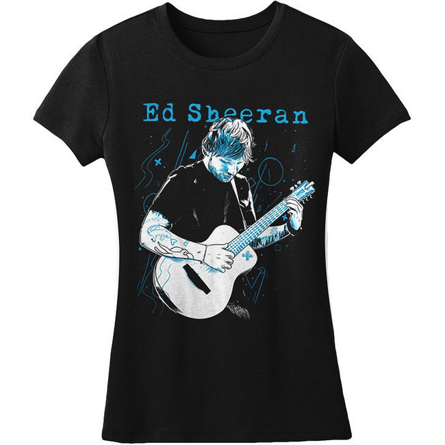 Ed Sheeran Guitar Junior Women's T-Shirt