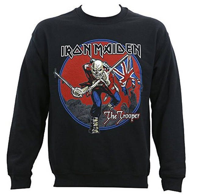 Iron Maiden Trooper Red Sky Crewneck Sweatshirt