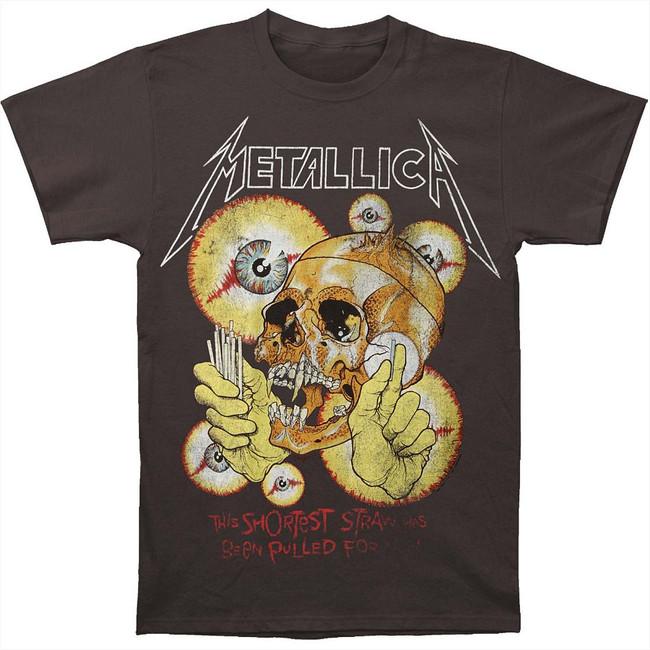 Metallica Vintage Shortest Straw Charcoal T-Shirt