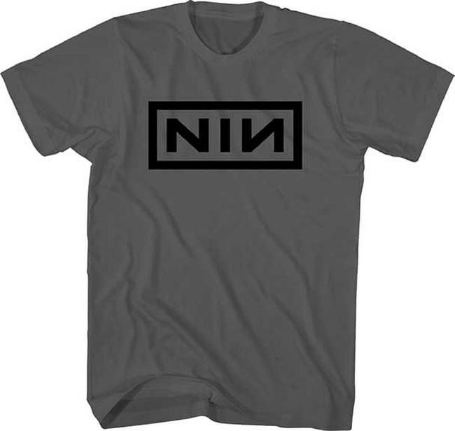 Nine Inch Nails Black Logo on Charcoal T-Shirt