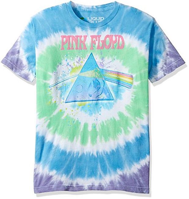 Pink Floyd Dark Side Oil Paint Tie-Dye T-Shirt