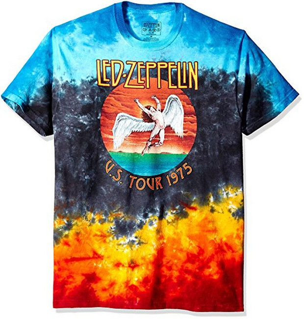 Led Zeppelin Icarus 1975 Tie-Dye T-Shirt