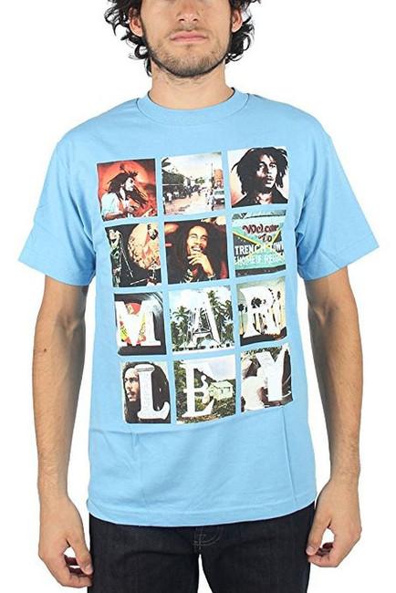 Bob Marley Block Images T-Shirt
