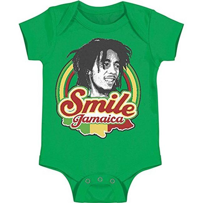 Bob Marley Smile Jamaica Infant Baby Romper T-Shirt