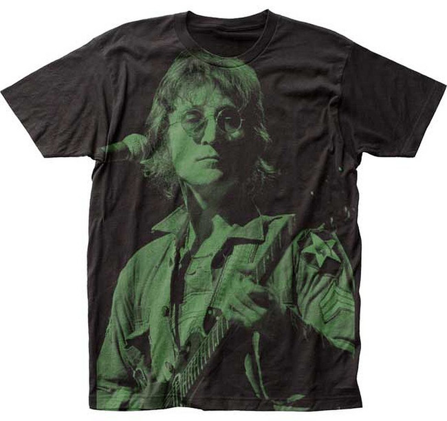 The Beatles John Lennon Live Men's Subway T-Shirt