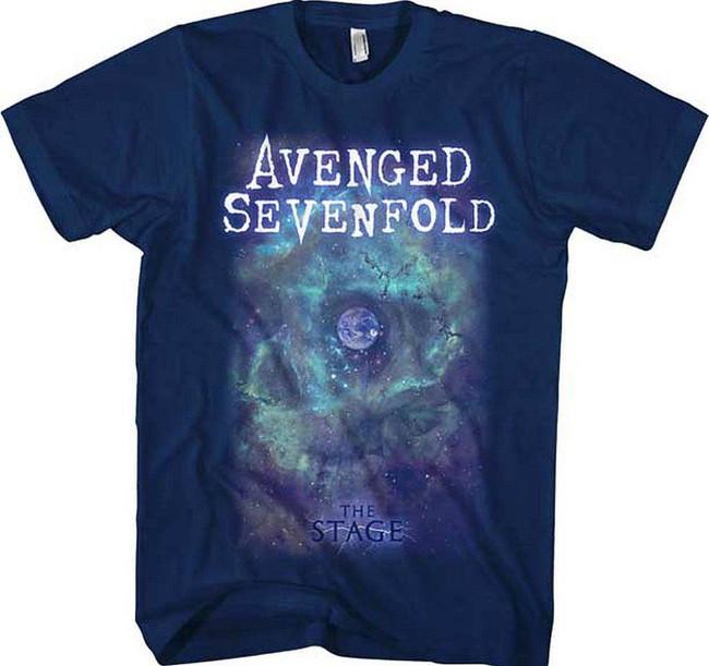 Avenged Sevenfold Navy Space Face Men's T-Shirt