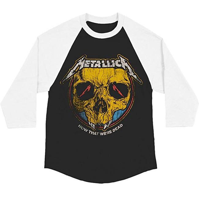 Metallica Now That We're Dead Slim Raglan Baseball T-Shirt