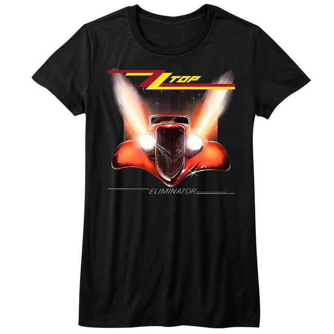 ZZ Top Eliminator Cover Black Junior Women's T-Shirt