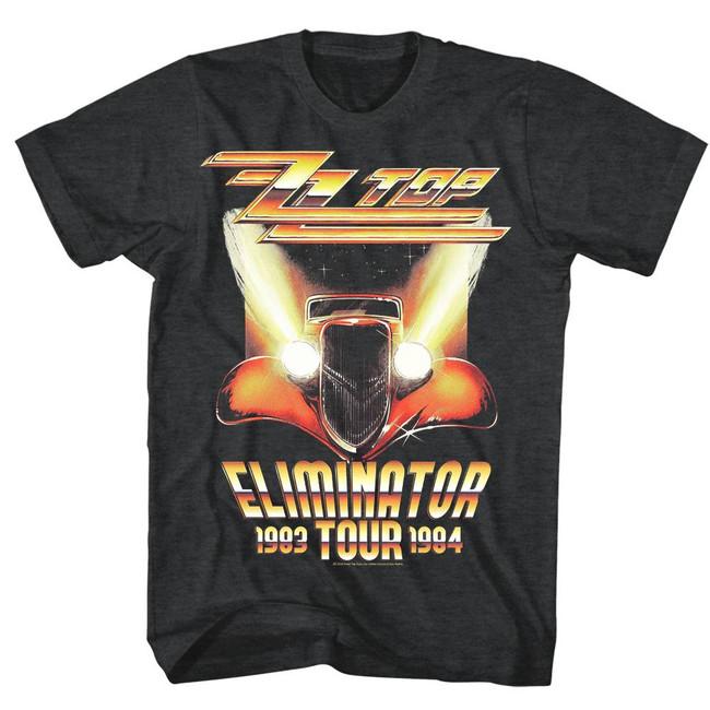 ZZ Top Eliminator Tour Black Heather Adult T-Shirt