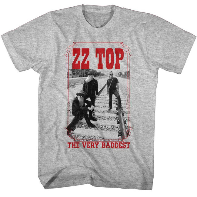 ZZ Top Very Bad Gray Heather Adult T-Shirt