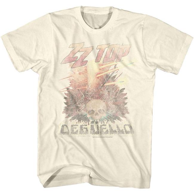 ZZ Top Deguello Fade Natural Adult T-Shirt