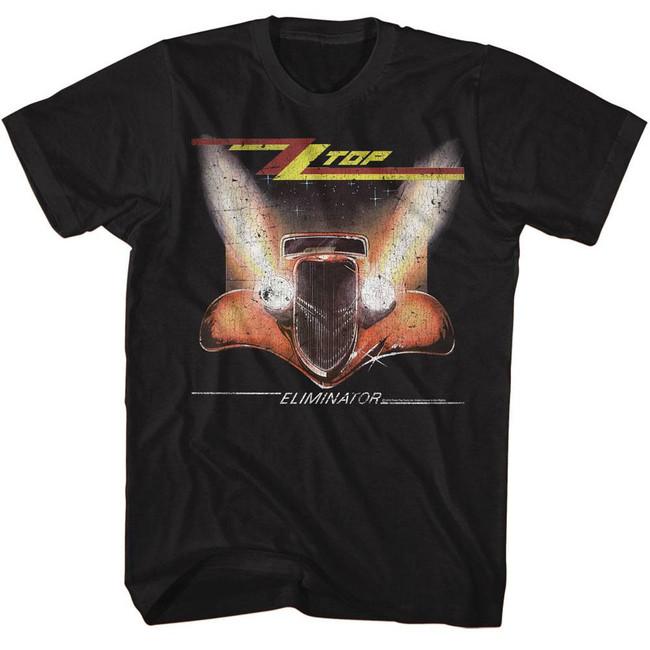 ZZ Top Crackle Black Adult T-Shirt