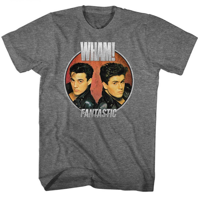 Wham Fantastic Circle Graphite Heather Adult T-Shirt