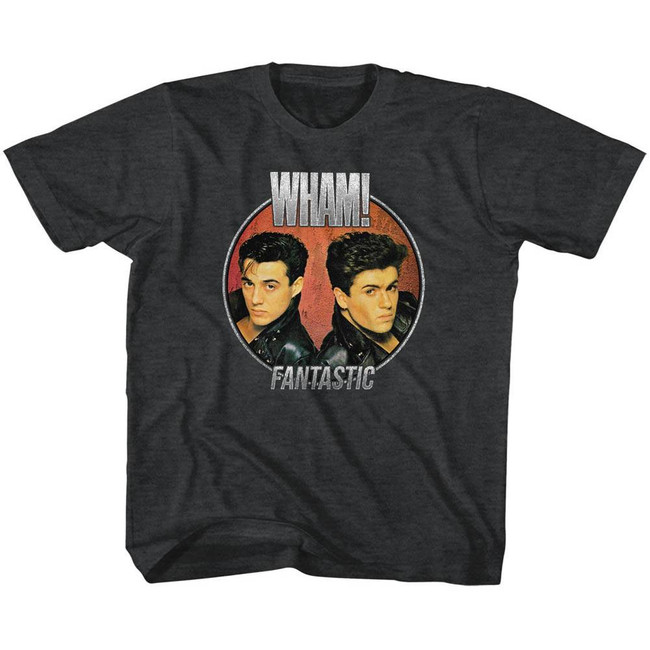 Wham Fantastic Circle Black Heather Children's T-Shirt