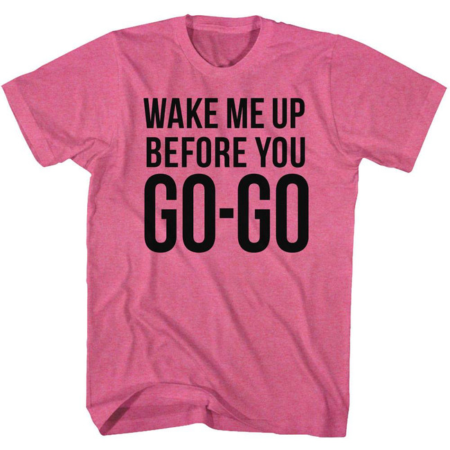 Wham Go Go Retro Pink Heather Adult T-Shirt