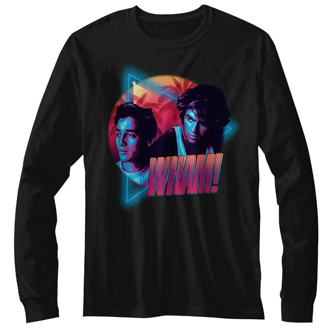 Wham Mi Wham I Vice Black Adult Long Sleeve T-Shirt