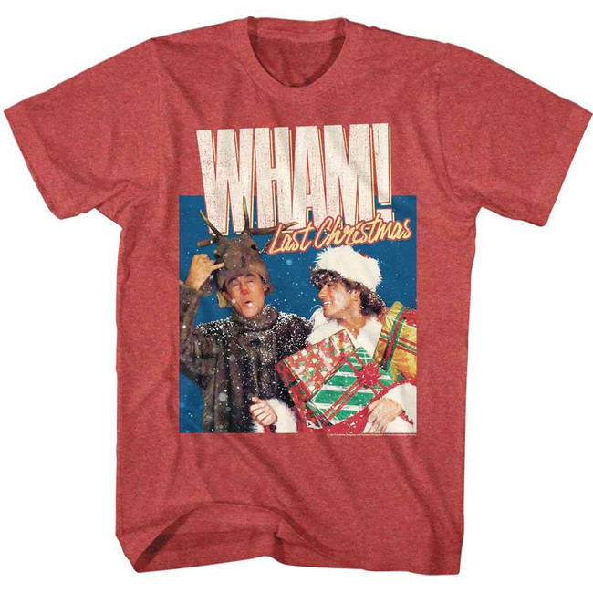 Wham Chrimuh Red Heather Adult T-Shirt