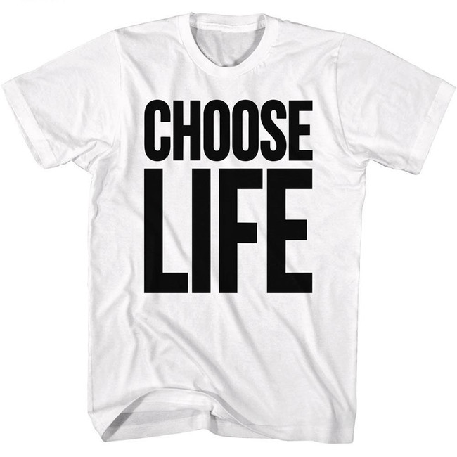 Wham Choose Life White Adult T-Shirt